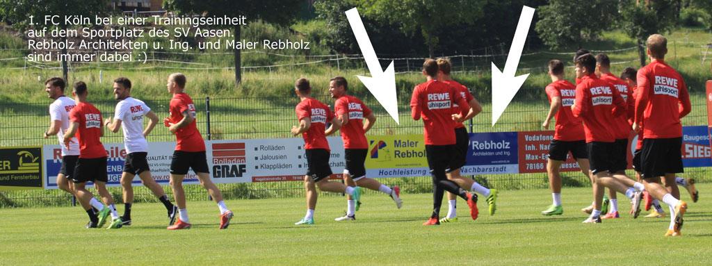 1. FC Köln in Aasen - Rebholz ist mit dabei