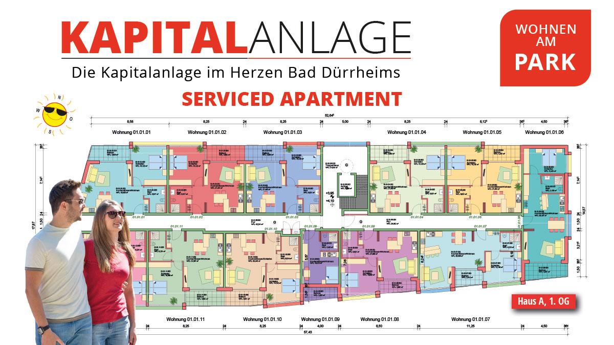 Kapitalanlage Apartments Bad Dürrheim – Wohnen am Park – Grundriss 1. OG