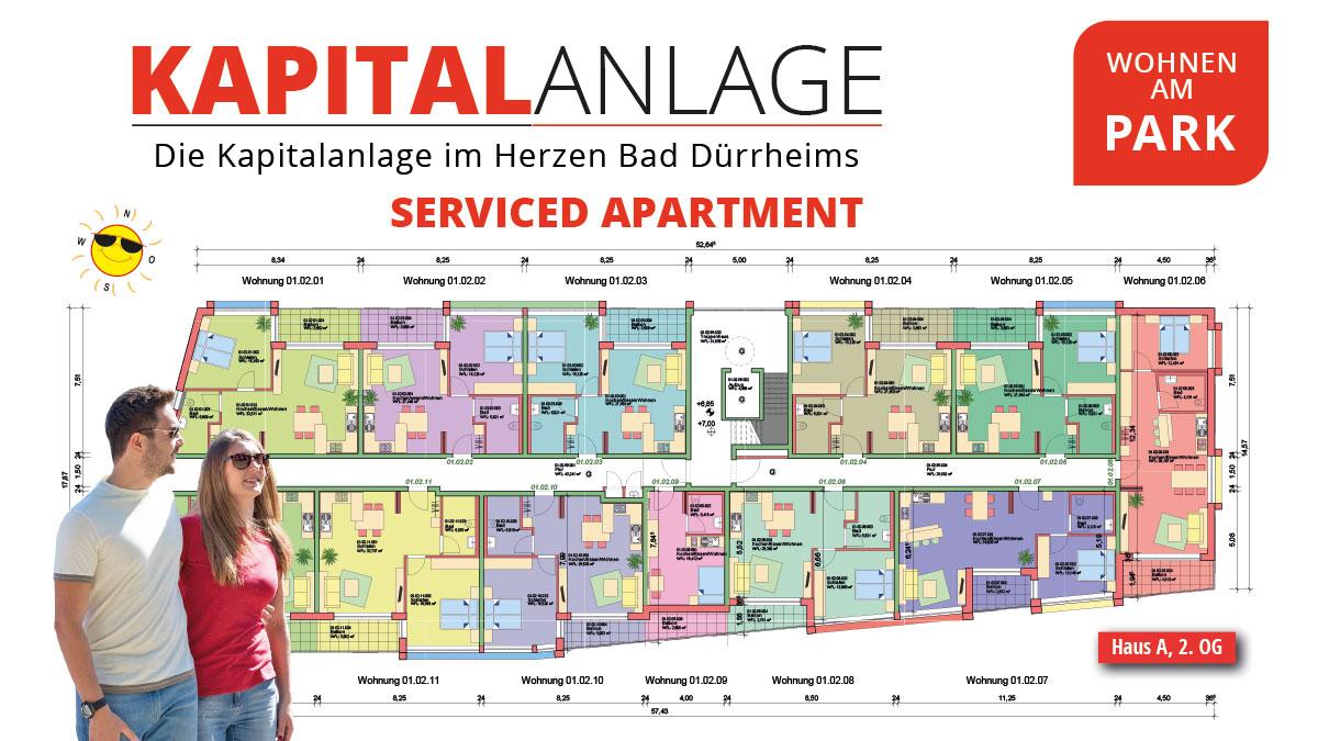 Kapitalanlage Apartments Bad Dürrheim – Wohnen am Park – Grundriss 2. OG
