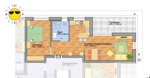 Grundriss Service Wohnen Blumberg Wohnung Nr. 23