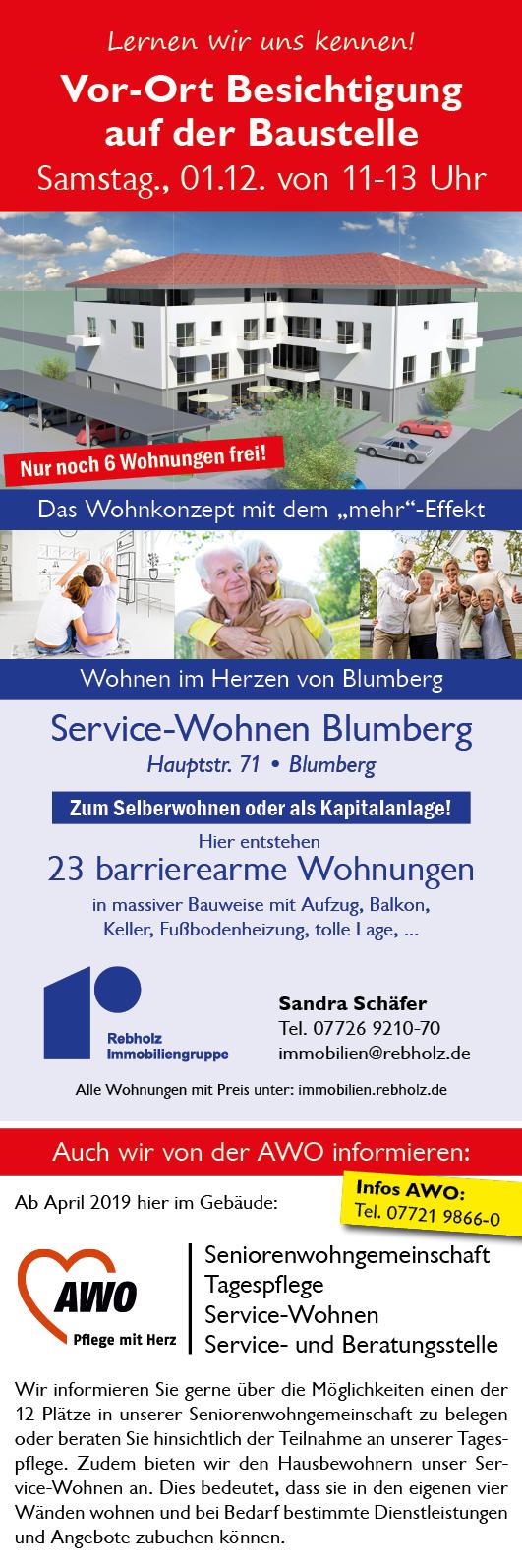 Unsere Anzeige im Blumberg Aktuell - Baustellen Wohnungsbesichtigung