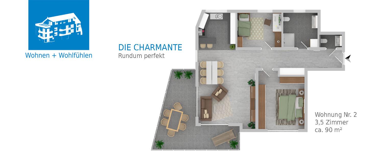 Bräunlingen Mehrfamilienhaus, Wohnung Nr. 2