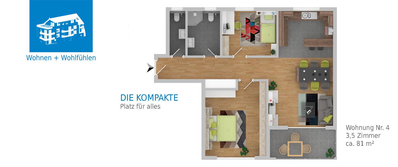 Bräunlingen Mehrfamilienhaus, Wohnung Nr. 4
