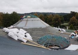 Dachsanierung Solemar 2018 - Austausch der Dachkuppel