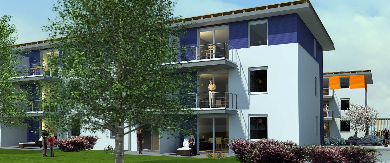 Service Wohnen Eschelen - Ansicht Haus 1
