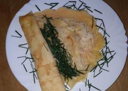Käse-Pfannkuchen mit viererlei Käse