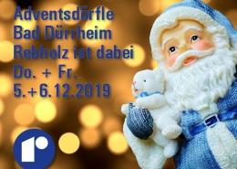 Bad Dürrheim Adventsdörfle - Rebholz ist dabei