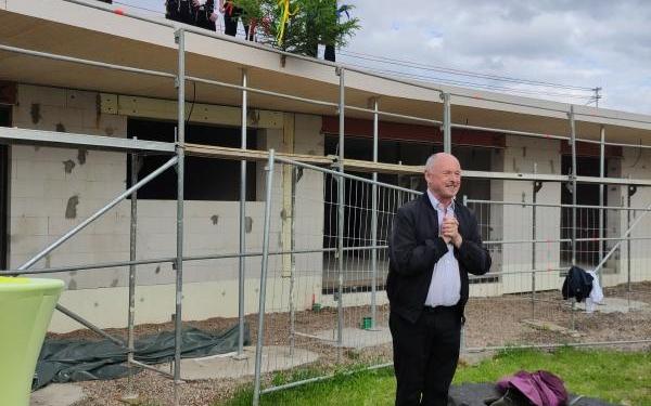 Richtfest Kindergartenerweiterung kath. Kindergarten in Aasen