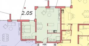 Grundriss Wohnung 2.05, Sattelweg, Bad Dürrheim