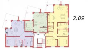 Grundriss Wohnung 2.09, Sattelweg, Bad Dürrheim