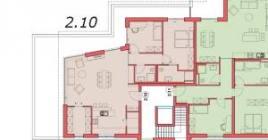 Grundriss Wohnung 2.10, Sattelweg, Bad Dürrheim