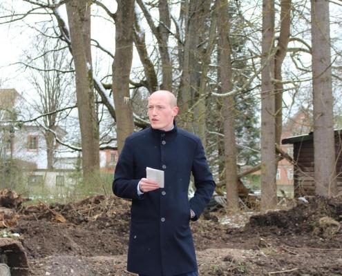 Ansprache Bürgermeister Jonathan Berggötz beim Spatenstich Wohnen am Park, Bad Dürrheim