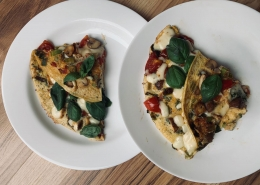 Bettinas Käse-Omelett – Anrichten