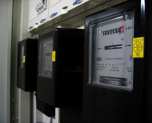 Foto eines Stromzähler